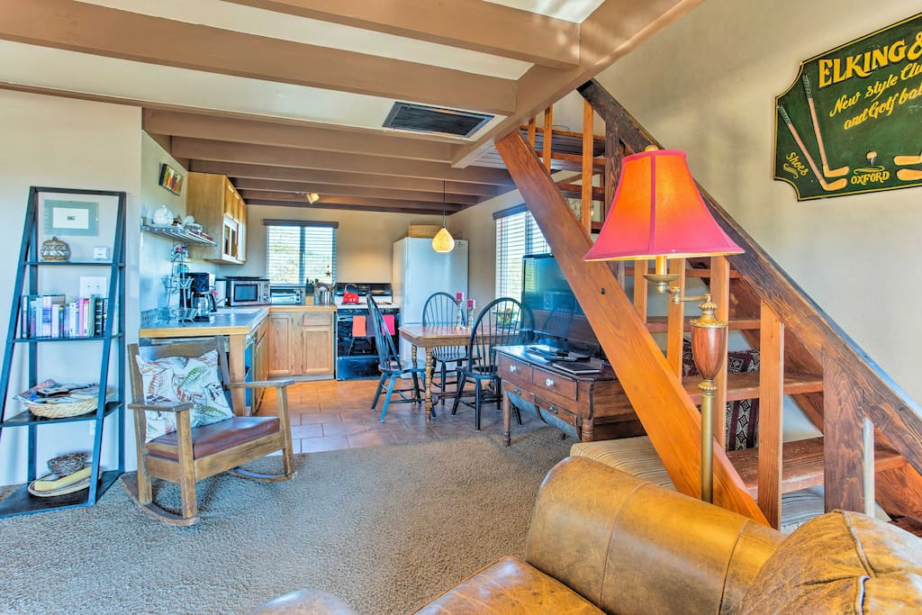 The open living space ensures that nobody feels left out of the fun.