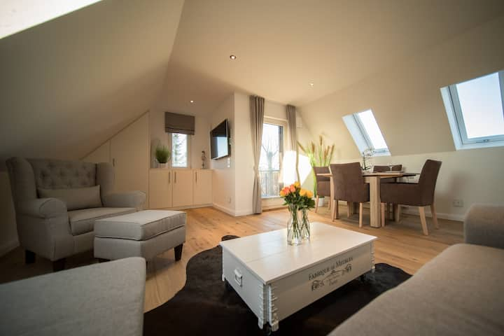 modern charming penthouse above the roofs of Sylt