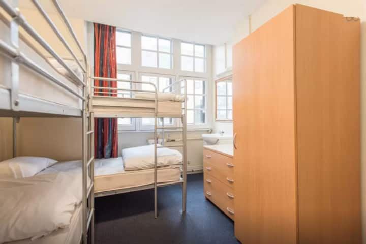 1 bed in 4-bed dorm, central London