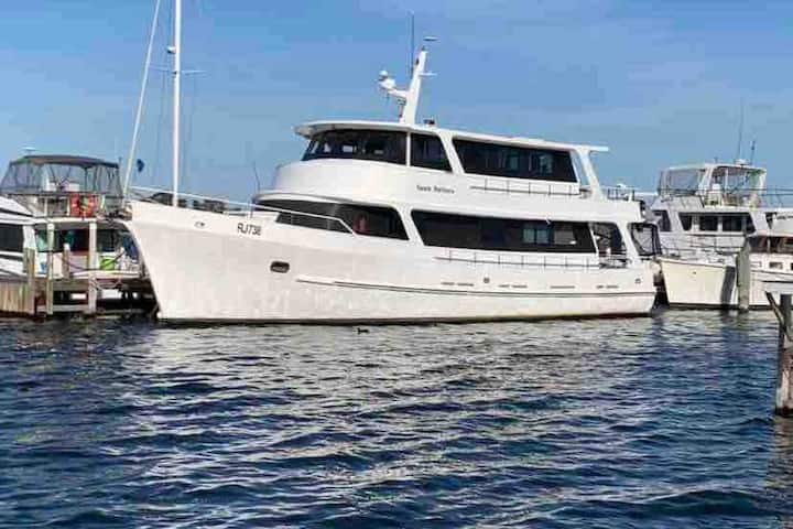 """Santa Barbara"" Liveaboard trawler in Metung"