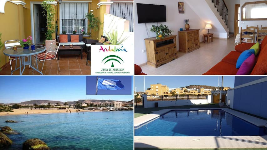 Sunny beach holiday family house & pool* - San Juan de los Terreros - House