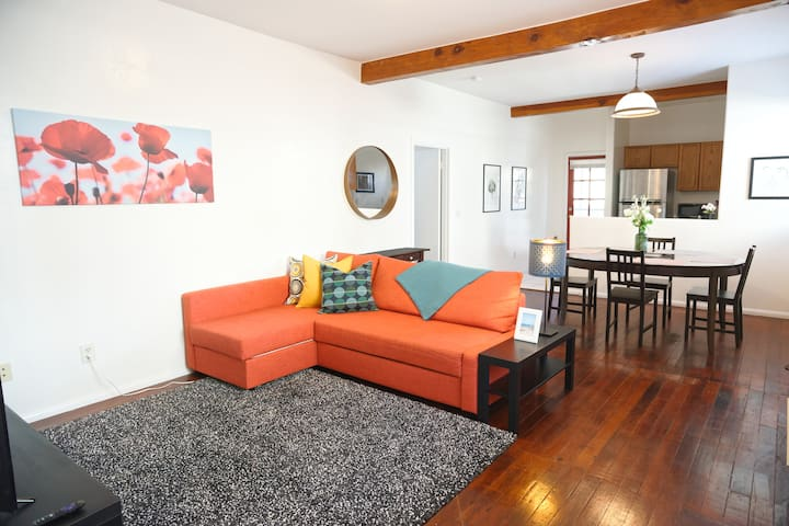 5 min to Downtown | Bright&Spacious 2Bed/2Bath