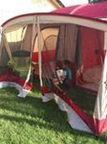 "Tent for rent at ""Pompeii Getaway"""
