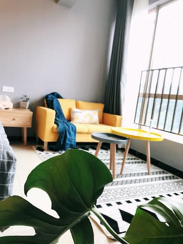 花果园-轻奢公寓<花时间小筑> 网红湿地公园(独套公寓带厨房)