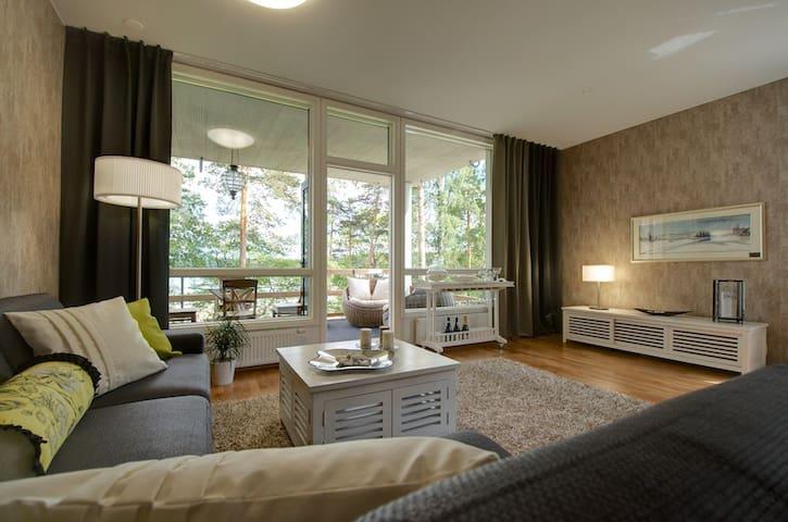 Lomahuoneisto Saimaanrannalla luonnon äärellä