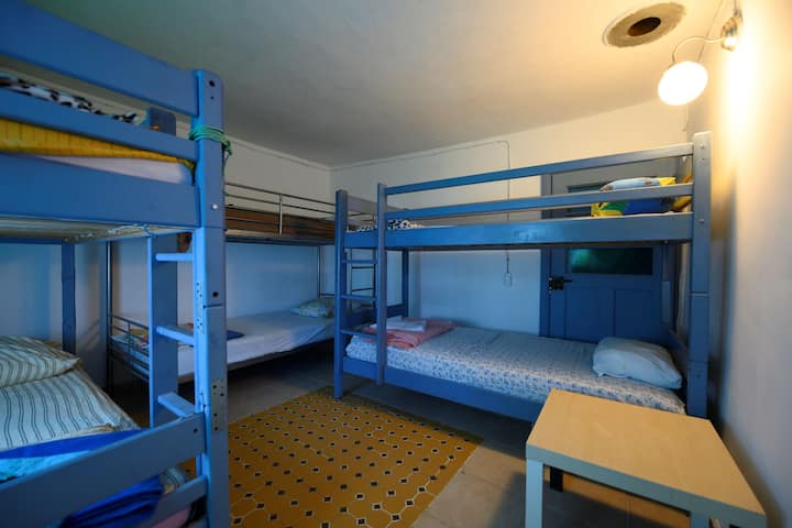 4 beds in the 6 bed dormitory