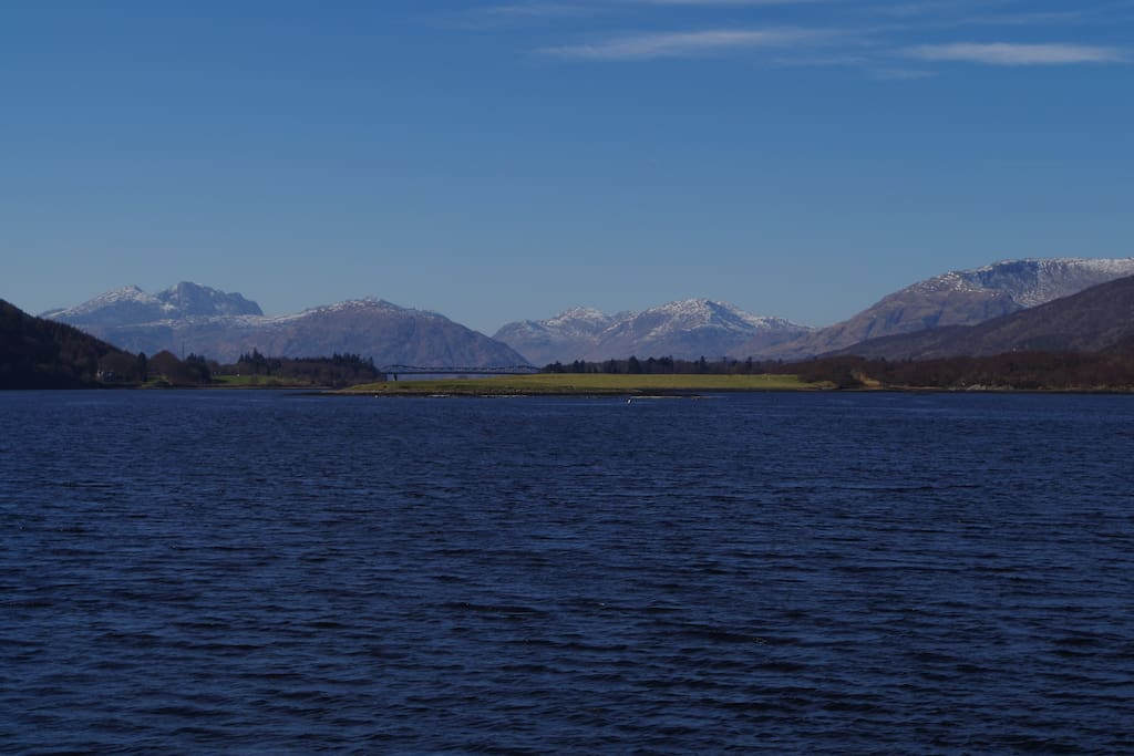 Incredible views down Loch Leven, only a two-minute walk away