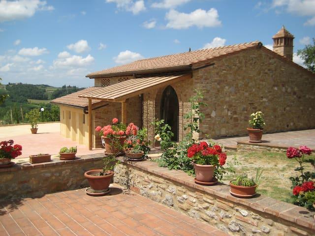 The Azzurro apartment-Farmhouse San Gimignano