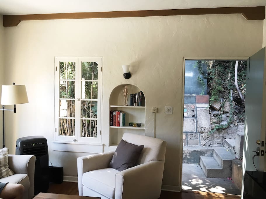 Comfortable Living Room with Lots of Natural Light