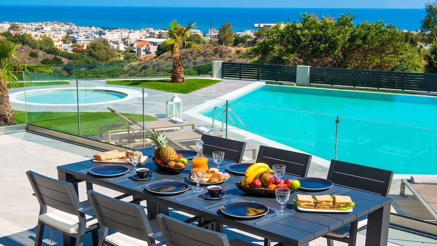 Orama Villa, 4 bedrooms, private pool, sea view