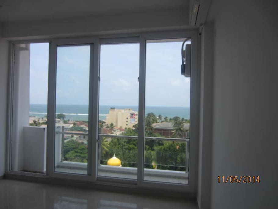 the sea view from the bedroom