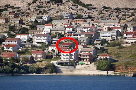 One bedroom apartment with terrace and sea view Zubovići, Pag (A-9363-a) - Zubovići