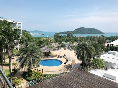 Beautiful tranquil sea view apartment 110 sqm