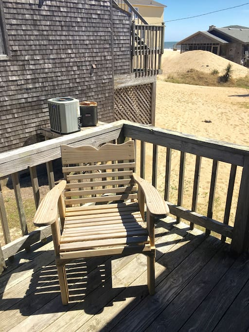 The deck provides a great spot for reading or just enjoying the sunshine.