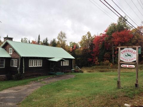 Original Adirondack Log Home on Horse Ranch