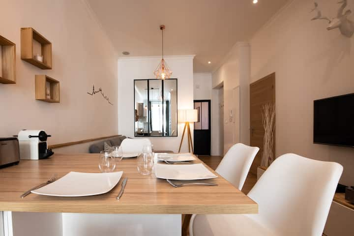 The Sixte - Cosy & design high tech flat in city center close to Tête d'Or