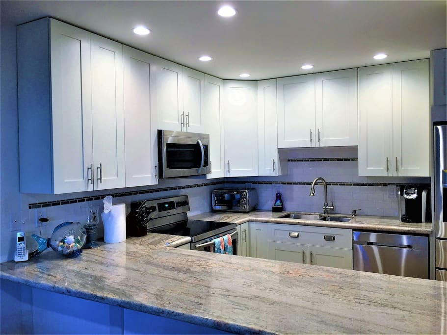 Beautifully remodeled kitchen and stainless steel appliances