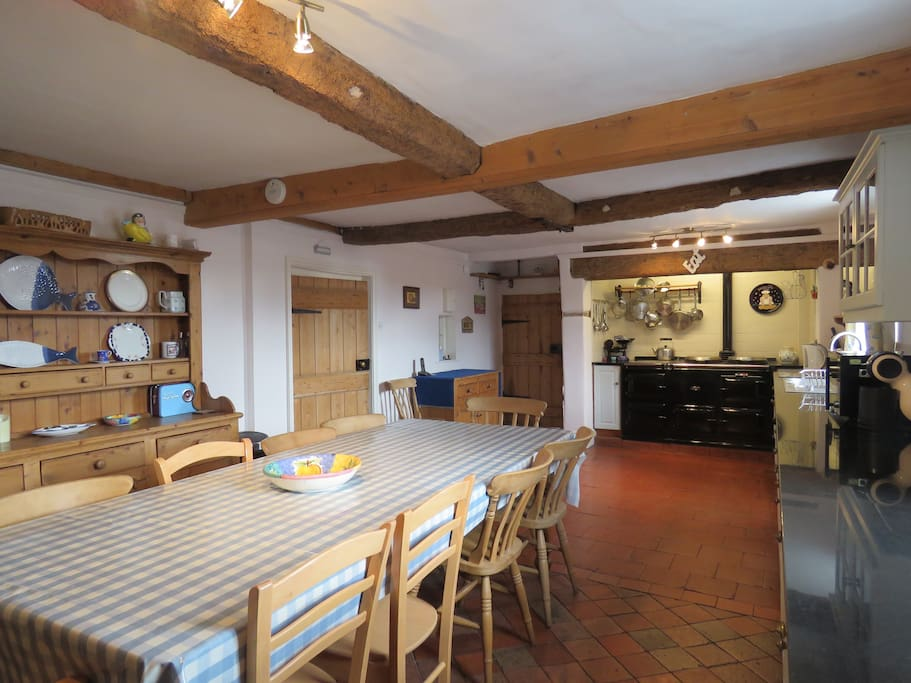 Farmhouse Kitchen with Aga