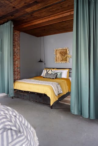 Casita Sage is a studio style flat, we have put in privacy curtains so you can adjust for your comfort.