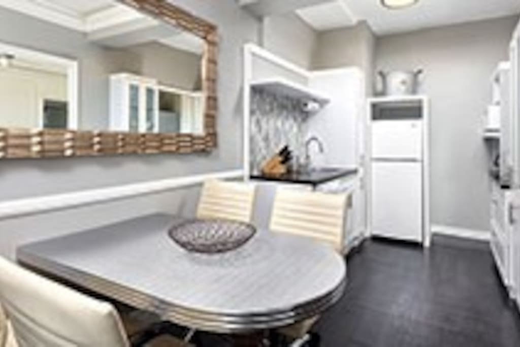 Separate kitchen with eating area