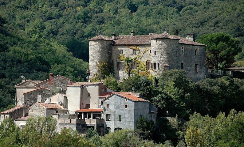 Südfrankreich, Wohnung mit Garten in Burg bei Alès - Les Salles-du-Gardon - Outro