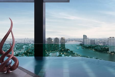 Top Luxury, River View, Pool, WiFi, Gym, BTS - Bangkok - Condominium
