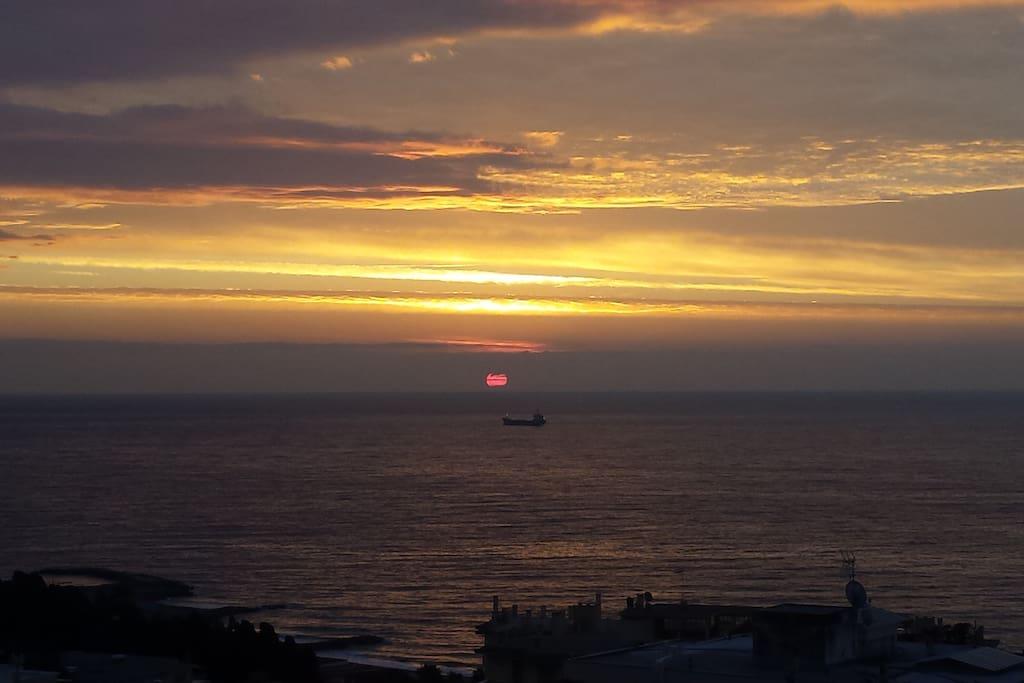 Vista alba terrazzino