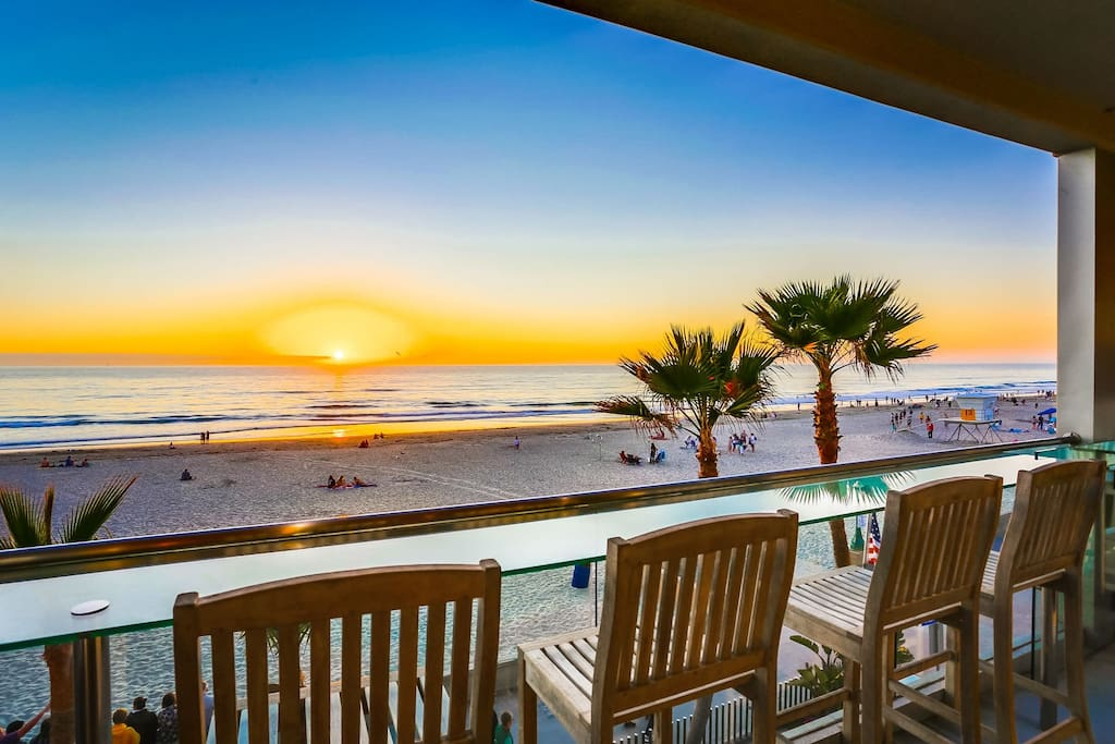 Patio overlooking Mission Beach