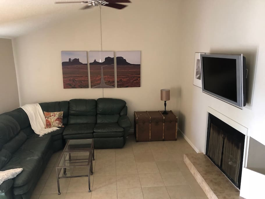 Living Room with pullout couch bed