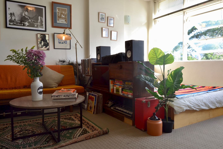 bright and airy studio
