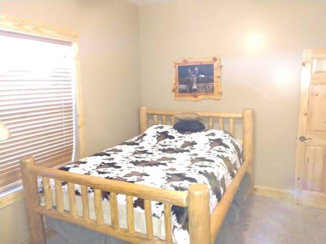 Basement bedroom.