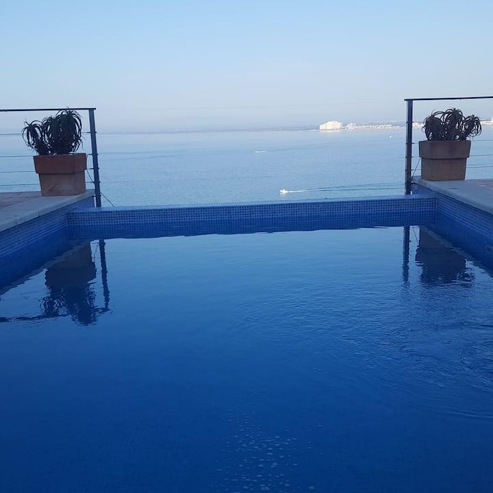 Villa Alcover, Piscina Privada, vista al mar