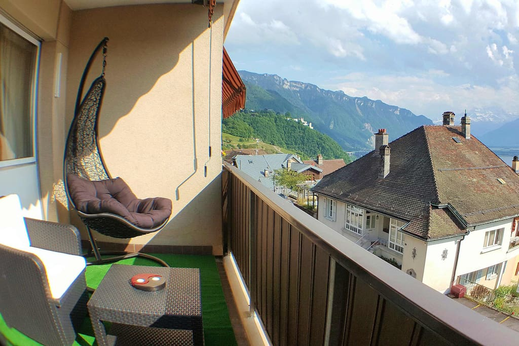 Enjoy the sun and lake view from the balcony