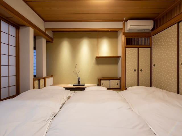 Japanese room with 3japanese mattresses