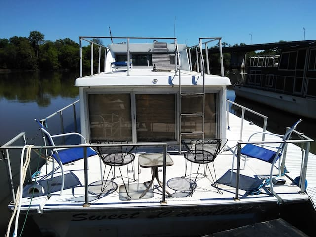 House boat on Savannah River  Downtown Augusta