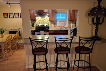 Spacious and clean. Close to NYC trains, w/ yard
