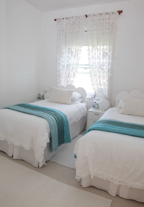 The Jophiel Room with twin beds (also available with a double bed)