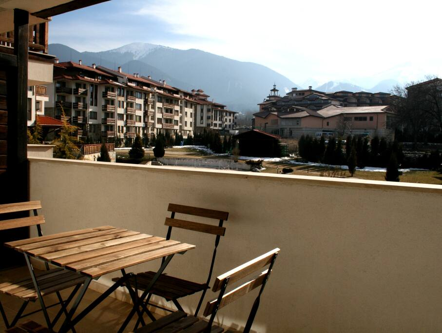 Equipped terrace with 180 degrees full mountain and garden view