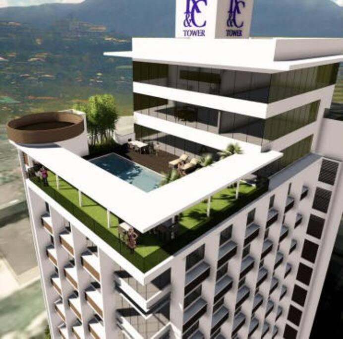Artist concept of Trillium Residences Condominium Building.