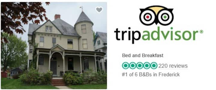 #1 Place to Stay by TripAdvisor &  Bfast 4 Foodies