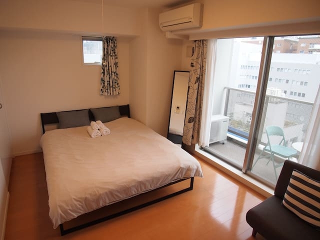 C3 The Center of Shinjuku Queen size bed with wifi - Shinjuku - Appartement