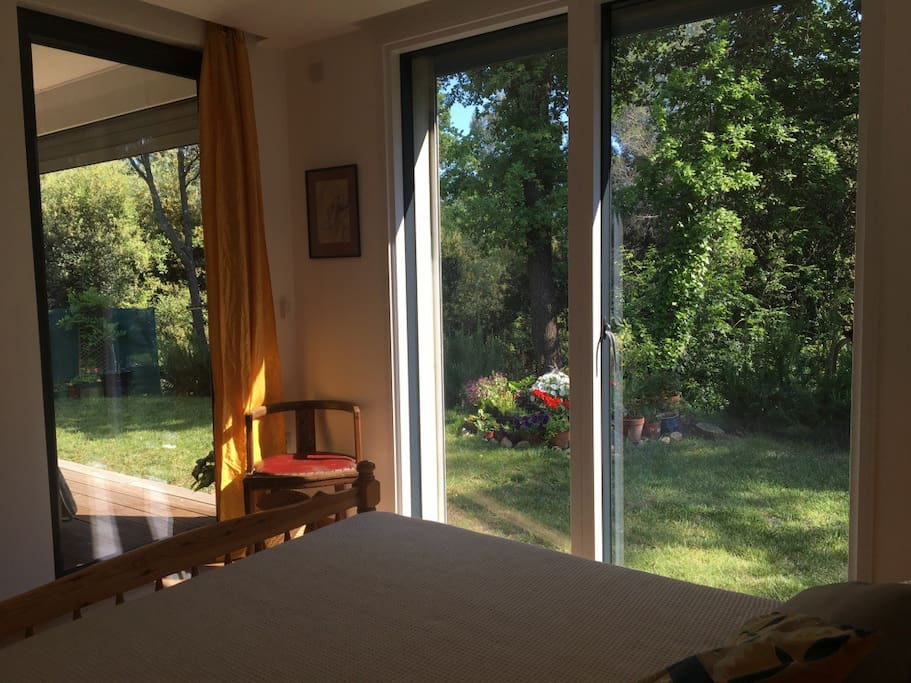 double bedroom garden view