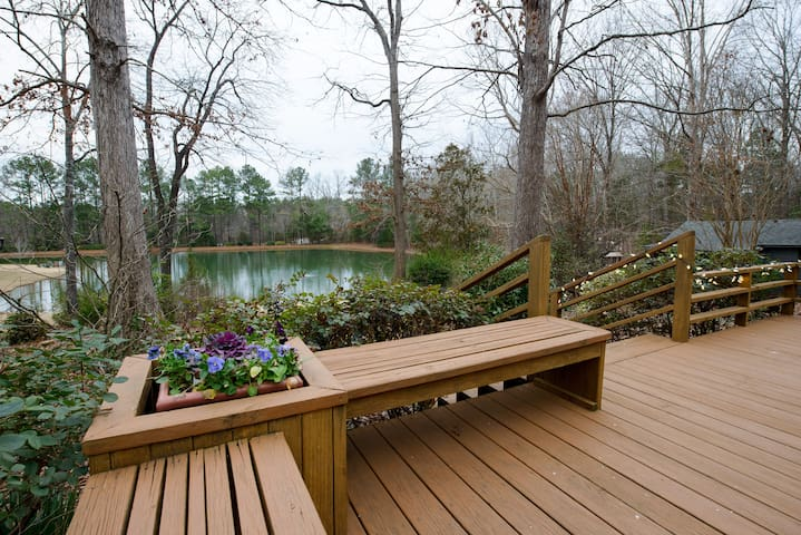 RELAXING SETTING overlooking private 2 acre Pond