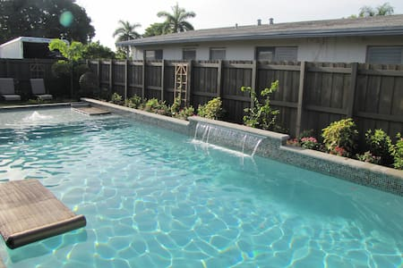 (7WF) POOL & GARDEN 1b1b Pool/Garden,Shops/Dining - 威尔顿庄园(Wilton Manors) - 公寓
