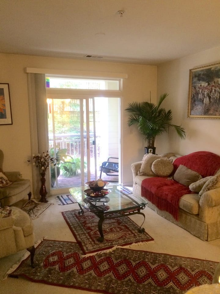 Room in a nicely furnished Condo