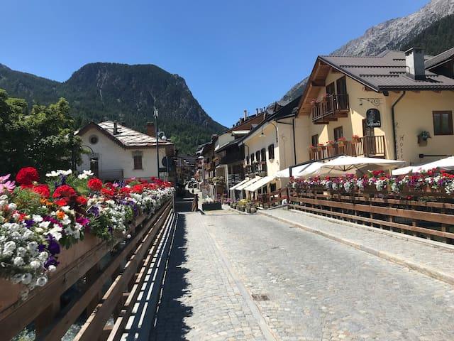 Cesana Torinese. The town