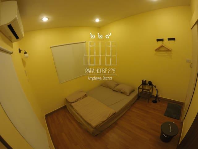 Bedroom B - 2nd floor ชั้น 2 ห้องนอน B  #ที่พักอัมพวา #PapaHouse229