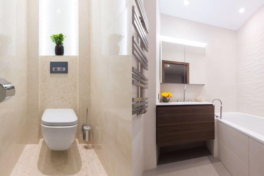 туалет , ванна