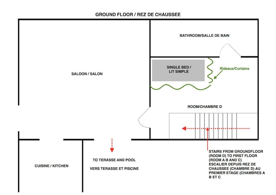 Plan rez-de-chaussé / Ground floor layout