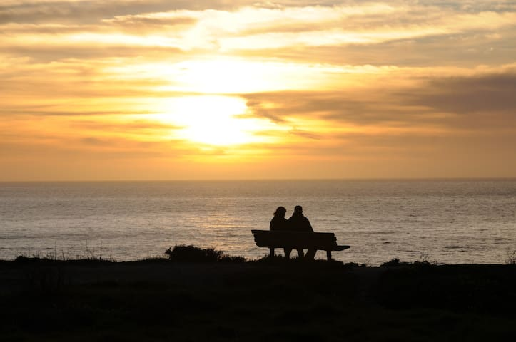 Take in the stunning sunsets from the cliffs overlooking Poplar Beach, just a 10 minute walk from the house.